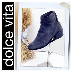 {Dolce Vita}Steel Grey Distressed Suede Ankle Boot